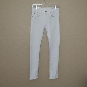 Sz 27 Rag & Bone Bright White Tomboy Skinny Jeans
